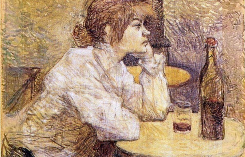 """""""La bebedora, retrato de Suzanne Valadon"""" (hacia 1888), de Henri de Toulouse-Lautrec"""