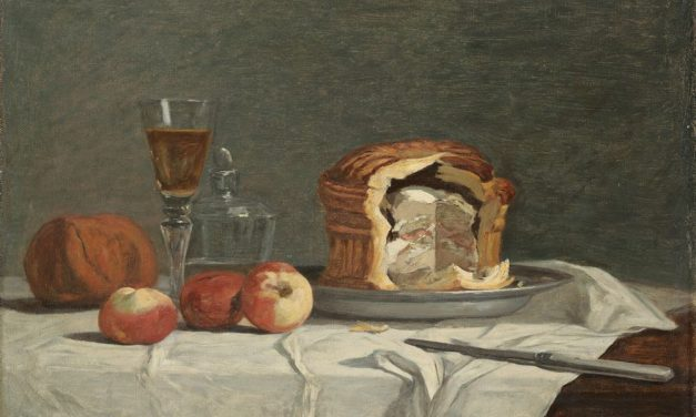"""Still Life with Pâté"" (siglo XIX), de Eugène Boudin"