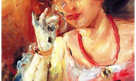 """Woman with a Glass of Wine"" (1908), de Lovis Corinth"