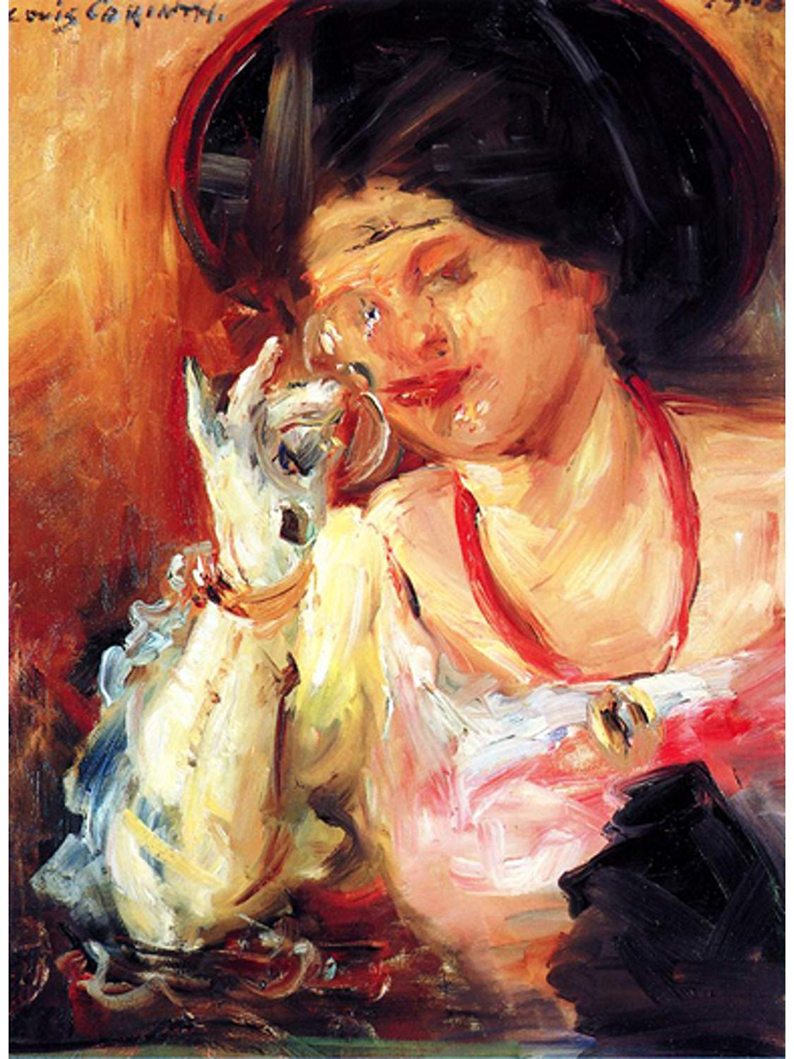 Woman with a Glass of Wine by Lovis Corinth