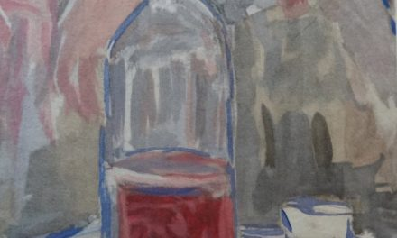 """Wine of the 14th of July"" (1920), de Maurice Utrillo"