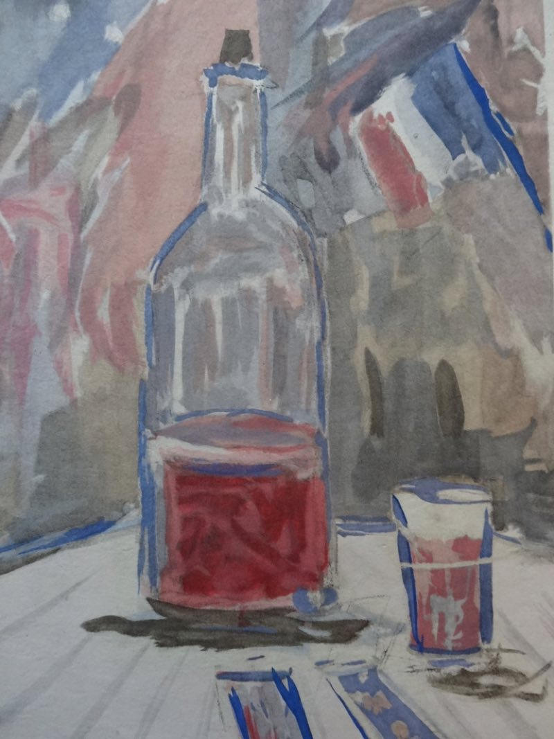 """""""Wine of the 14th of July"""" (1920), de Maurice Utrillo"""
