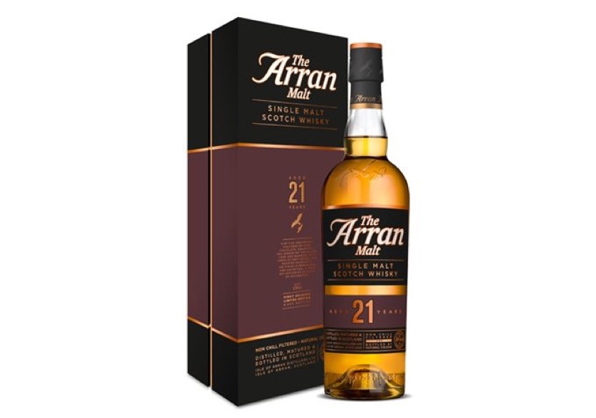 Isle of Arran estrena single malt de 21 años, Isle of Arran 21 Year Old