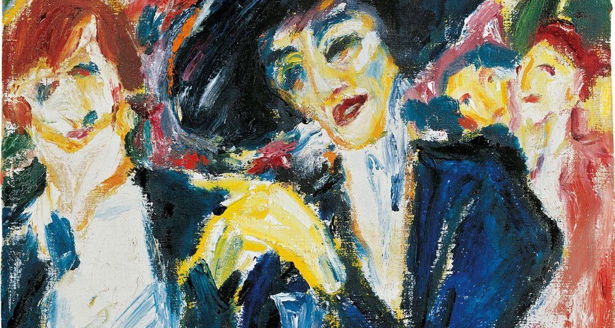 """At the wine table"" (1911), de Emil Nolde"