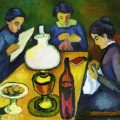 three-women-at-the-table-by-the-lamp