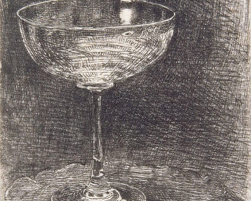 """The Wine-Glass"" (1858), de James McNeill Whistler"