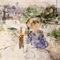Almuerzo en el campo (1879), de Berthe Morisot
