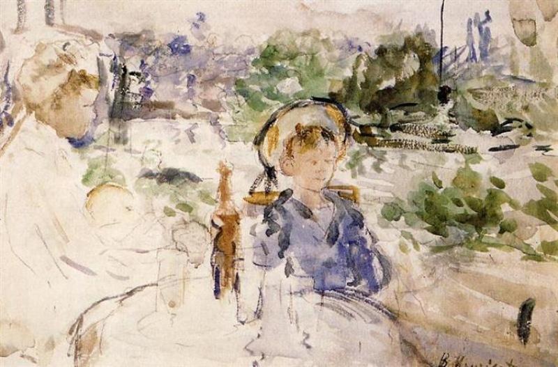"""""""Almuerzo en el campo"""" (1879), de Berthe Morisot"""