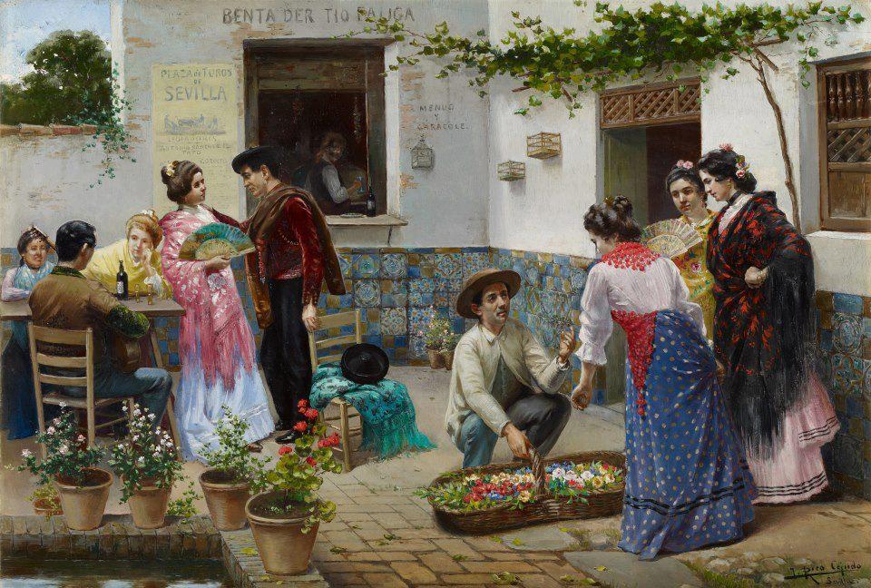 Andaluces en una venta (1898), de José Rico