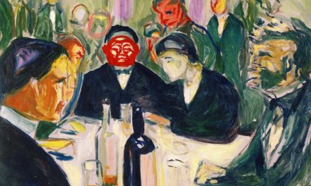 """Around the Drinking Table"" (1927-1930), de Edvard Munch"