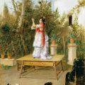 Bailando (1889), de Manuel Cabral Aguado Bejarano