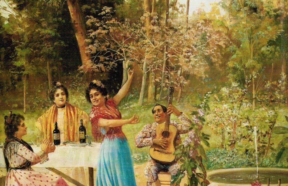 """""""Baile en el jardín"""" (1903), de Adolfo del Águila Acosta"""
