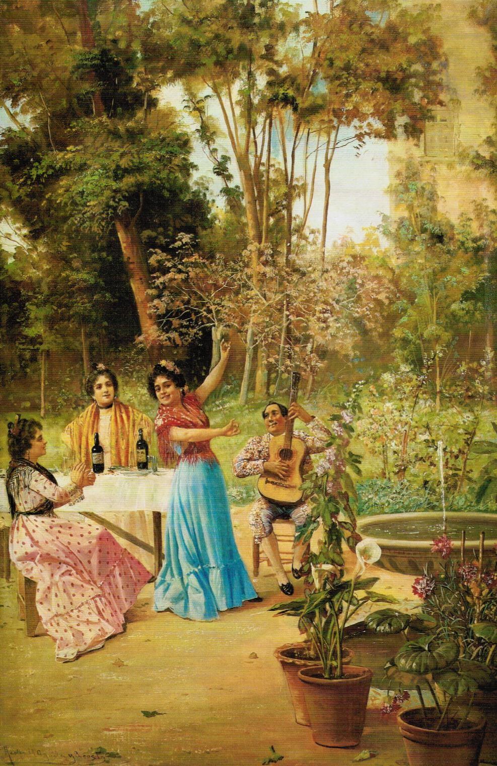 Baile en el jardín (1903), de Adolfo del Águila Acosta