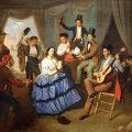 Baile en una caseta de Feria (1852), de Manuel Cabral Bejarano