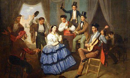 """""""Baile en una caseta de Feria"""" (1852), de Manuel Cabral Bejarano"""