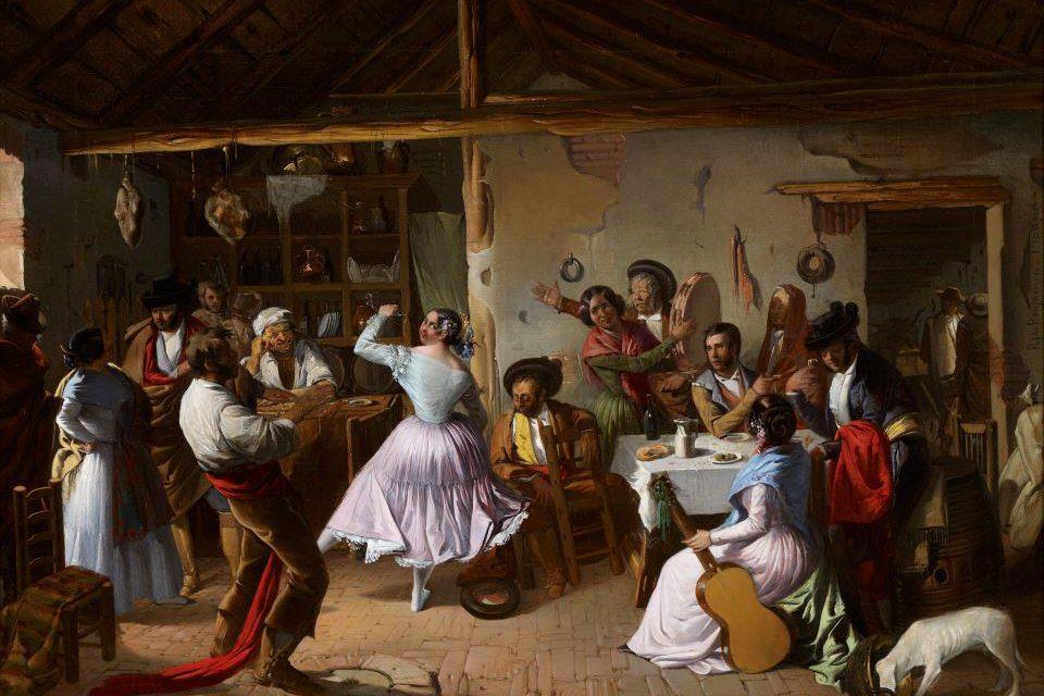 """""""Baile en una venta"""" (1850), de Rafael Benjumea"""