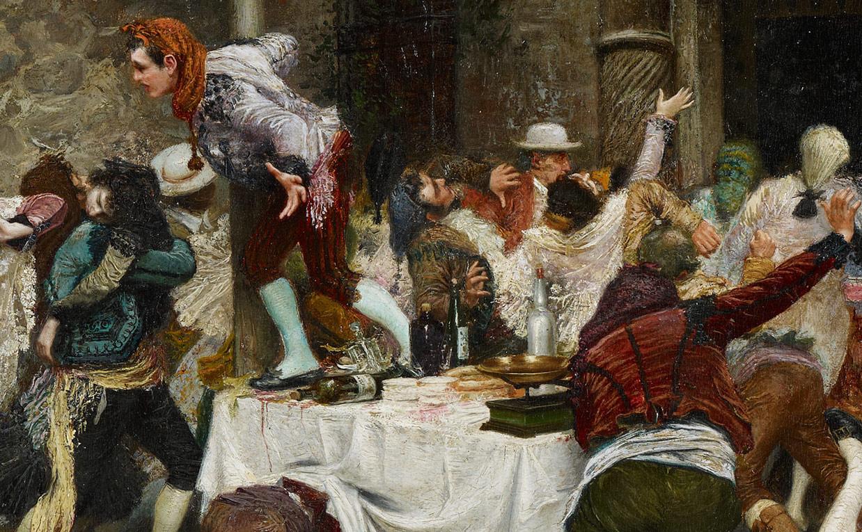 Banquete interrumpido (1901), de Juan José Gárate Clavero-2