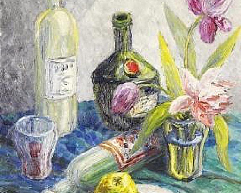 """""""Bodegón con frutas y flores"""" (1943), de Birger Carlstedt"""