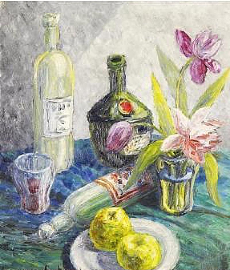 Bodegón con frutas y flores (1943), de Birger Carlstedt