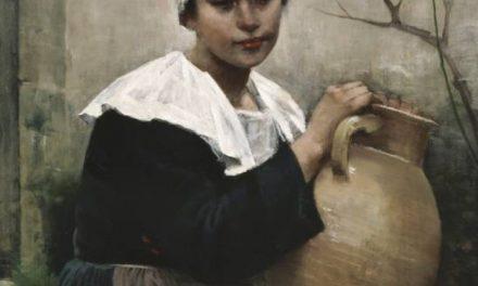 """""""Chica bretona con un frasco en la mano"""" (1884), de Amélie Lundahl"""