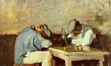 """""""Dos bebedores"""" (1978), de Nicolae Grigorescu"""