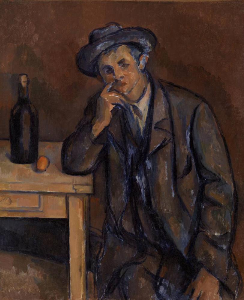 El bebedor (1891), de Paul Cezanne
