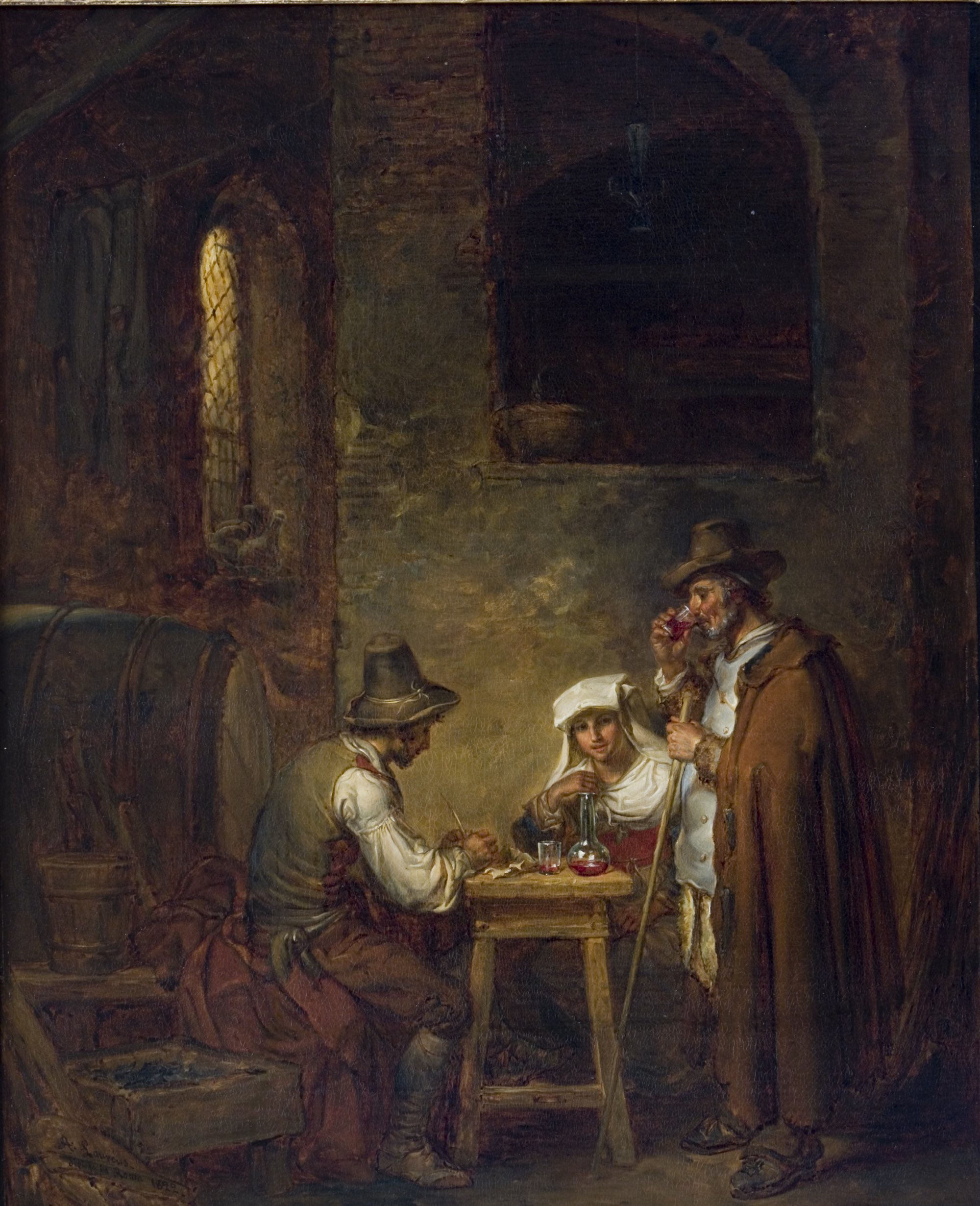 Alexander Laureus: Il pecoraio (lammaspaimen), 1822