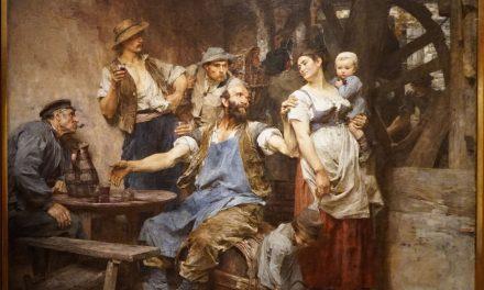 """""""El vino"""" (siglo XIX), de Léon-Augustin Lhermitte"""