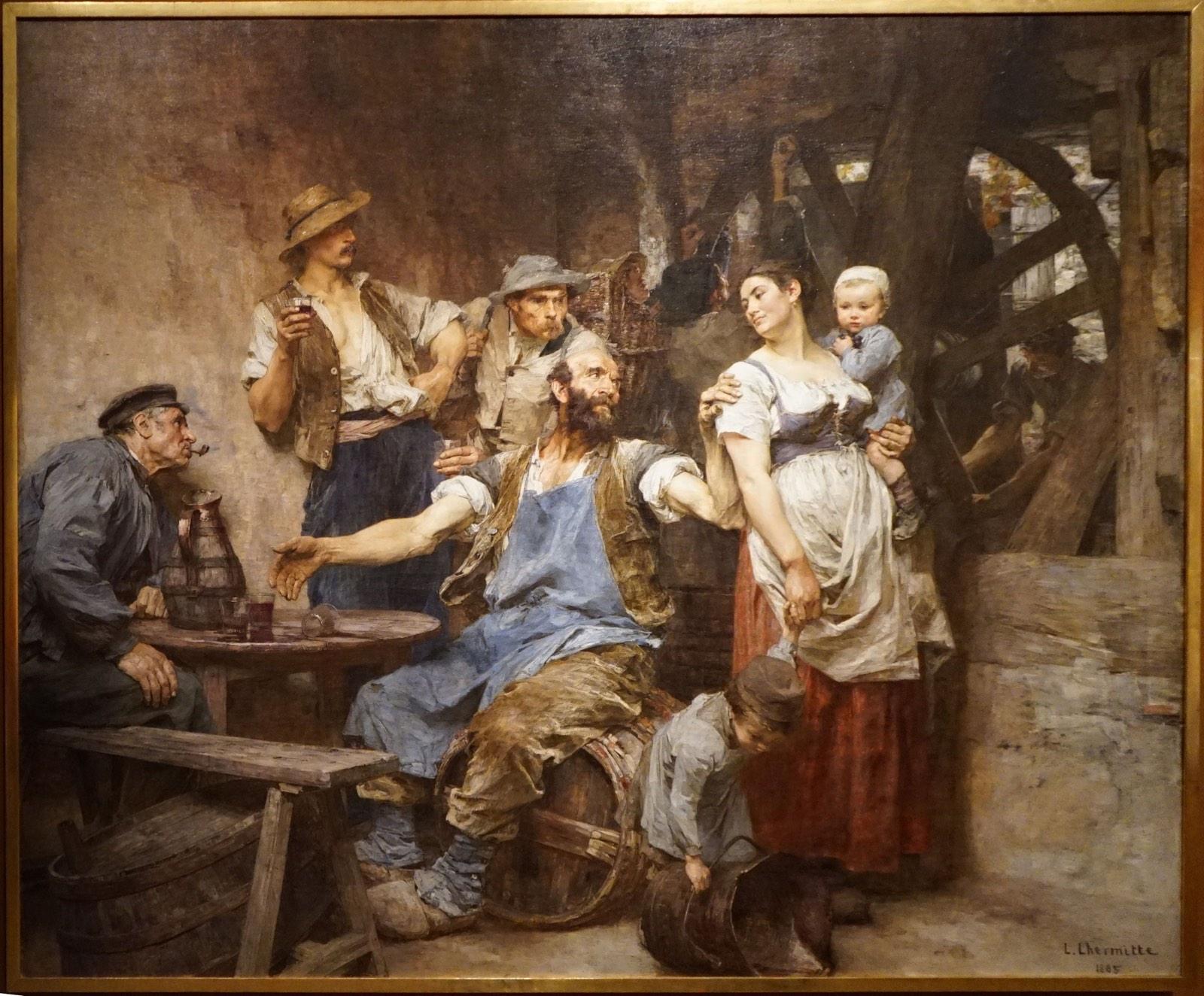 El vino (siglo XIX), de Léon-Augustin Lhermitte