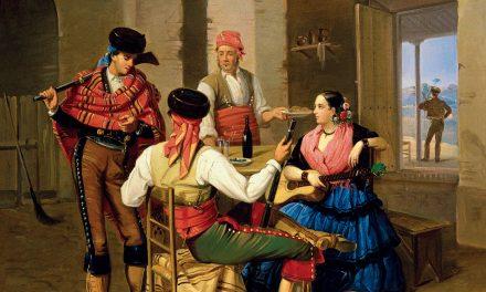 """""""Escena de una venta"""" (1855), de Manuel Cabral Aguado Bejarano"""