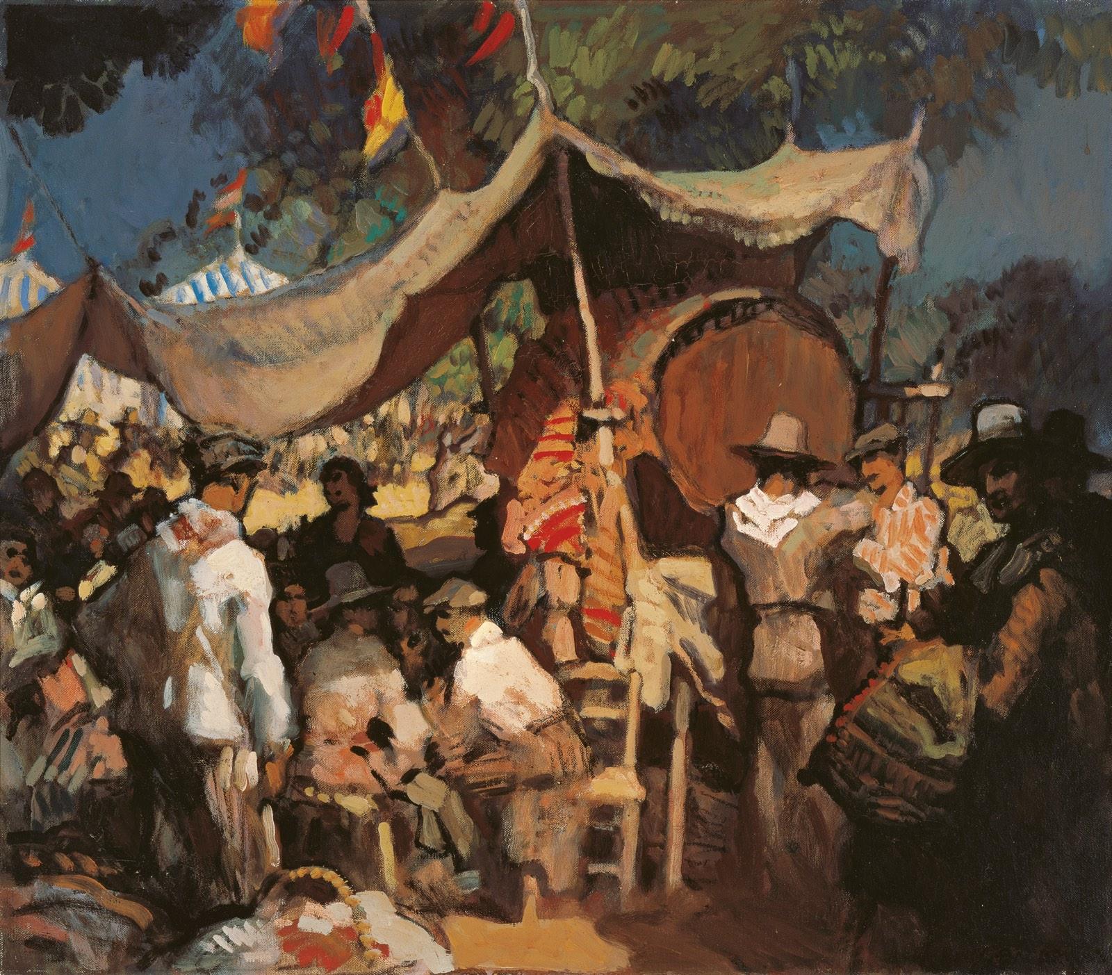 Feria (comienzo del siglo XX), de Gustavo Bacarisas