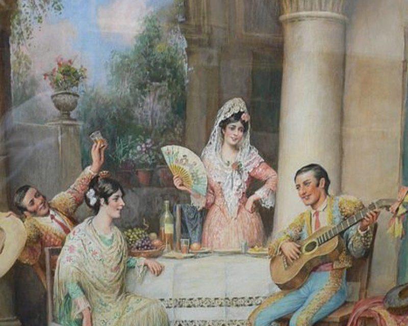 """Fiesta flamenca"" (1901), de Trevor Haddon"