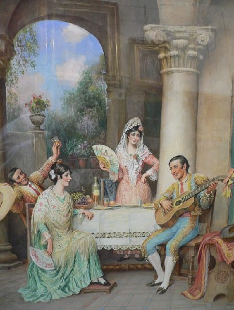 Fiesta flamenca (1901), de Trevor Haddon