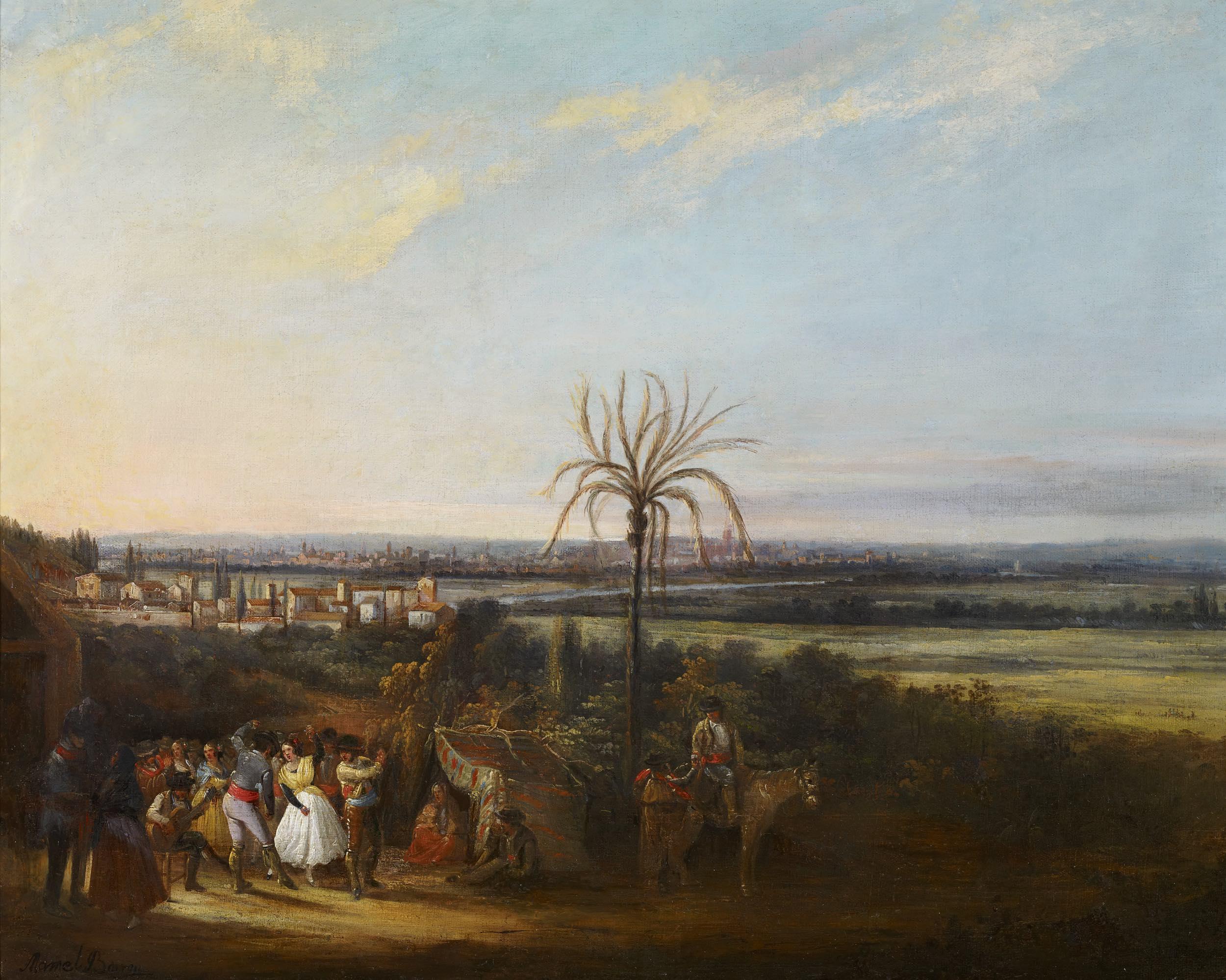 Fiesta popular en los alrededores de Sevilla (1845-1850), de Manuel Barrón y Carrillo