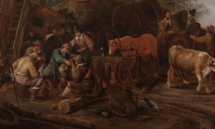 """Figuras afuera de una posada"" (1647), de Isack van Ostade"