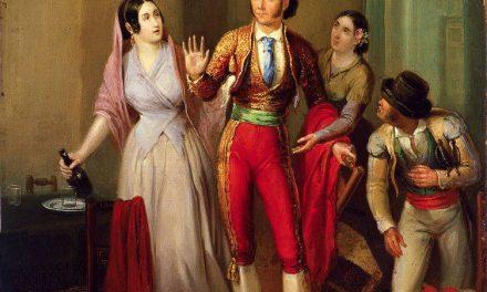 """""""Francisco Montes """"Paquiro"""", antes de una corrida. La despedida del torero"""" (1847), de Ángel María Cortellini"""