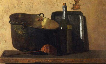 """""""Hervidor de agua de latón y vino"""" (1890-1899), de John Frederick Peto"""