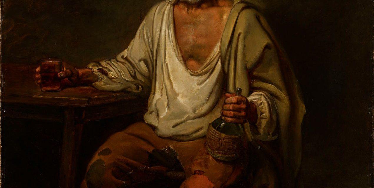 """""""Hombre bebiendo vino"""" (1822), de Aleksander Lauréus"""
