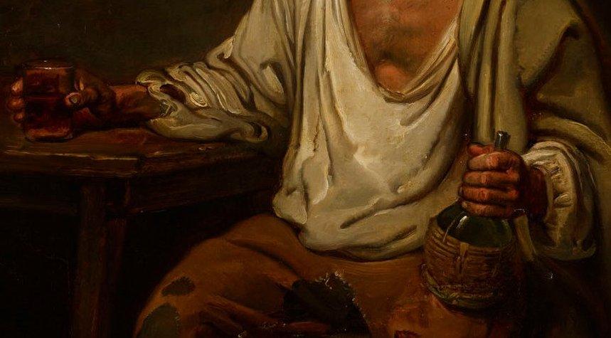Hombre bebiendo vino (1822), de Aleksander Lauréus 2