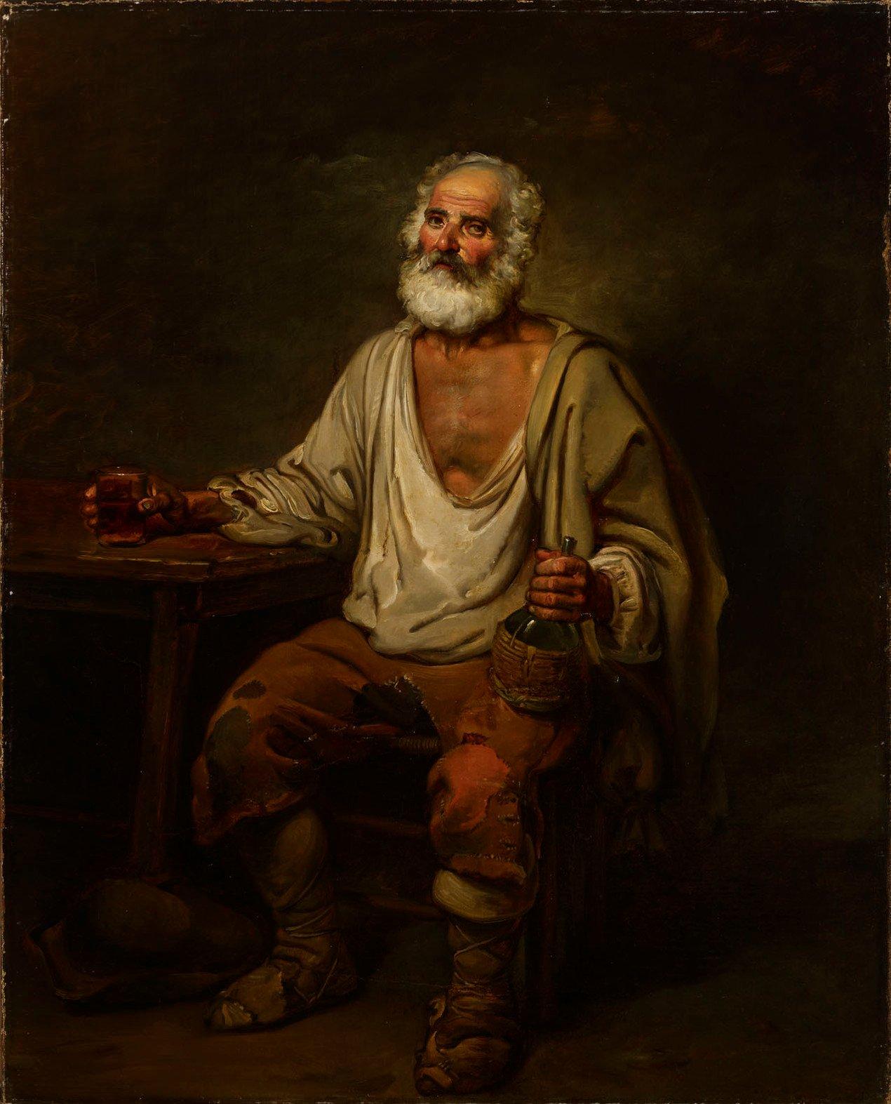 Hombre bebiendo vino (1822), de Aleksander Lauréus