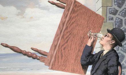 """Hombre bebiendo"" (1939), de René Magritte"