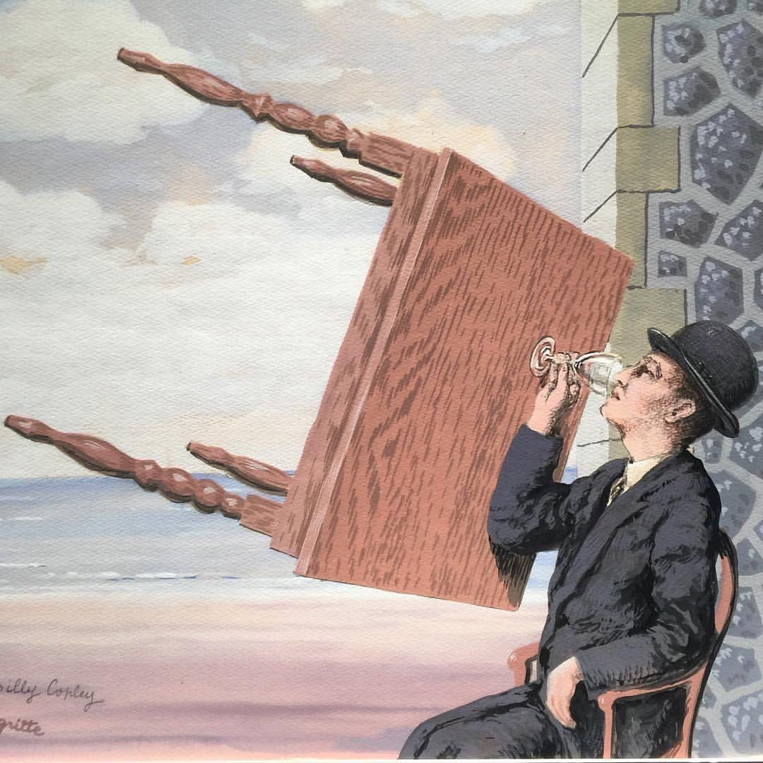 Hombre bebiendo (1939), de René Magritte