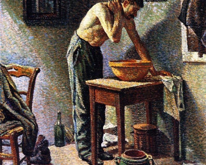 """""""Hombre lavándose"""" (1887), de Maximilien Luce"""