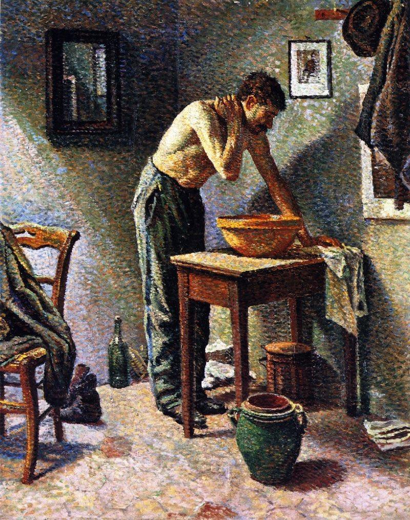 Hombre lavándose (1887), de Maximilien Luce