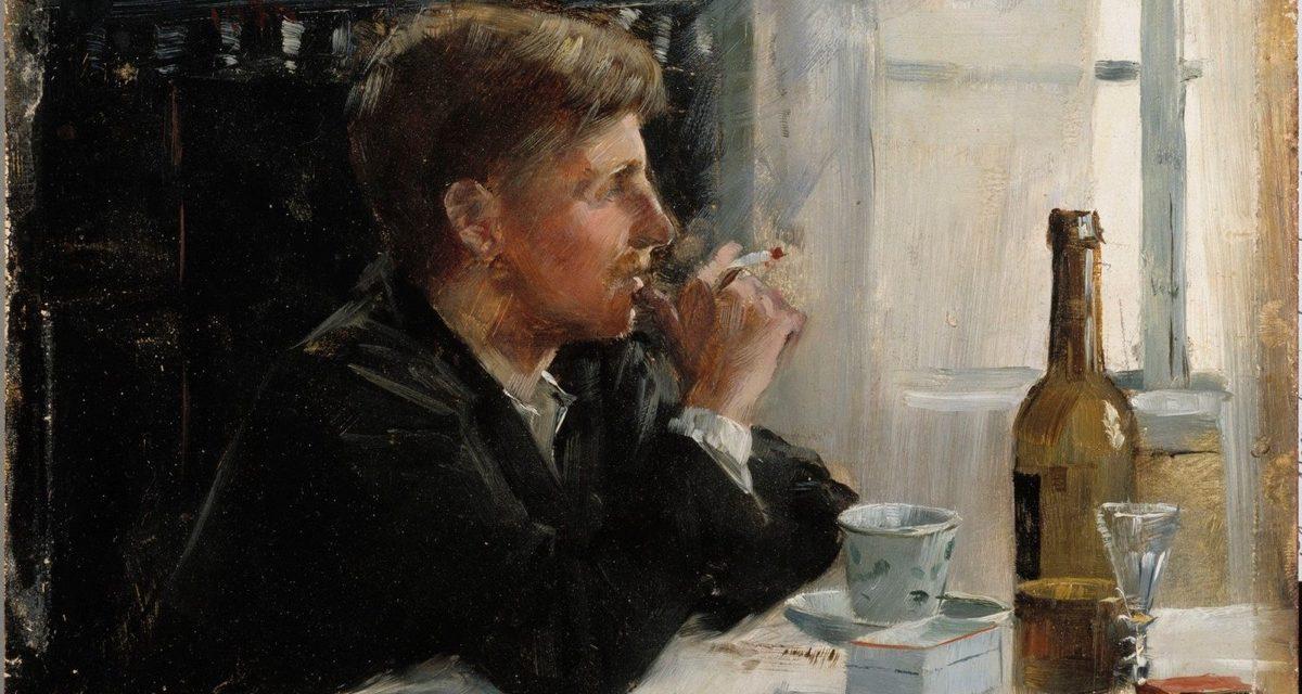 """""""Hombre sentado en la mesa"""" (1886), de Elin Danielson-Gambogi"""
