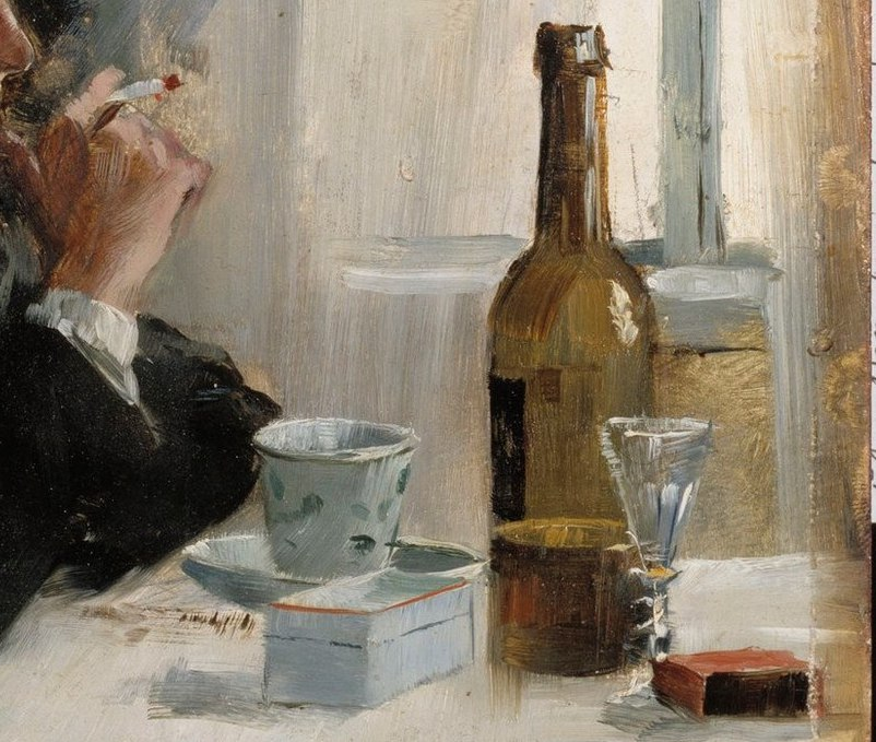 Hombre sentado a la mesa (1886), de Elin Danielson-Gambogi 2