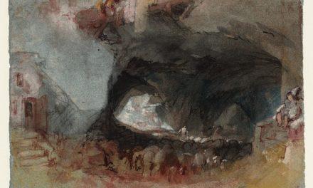 """""""Interior de la cueva con barricas de vino, cerca de Saumur"""" (1826-1828), de J.M.W Turner"""