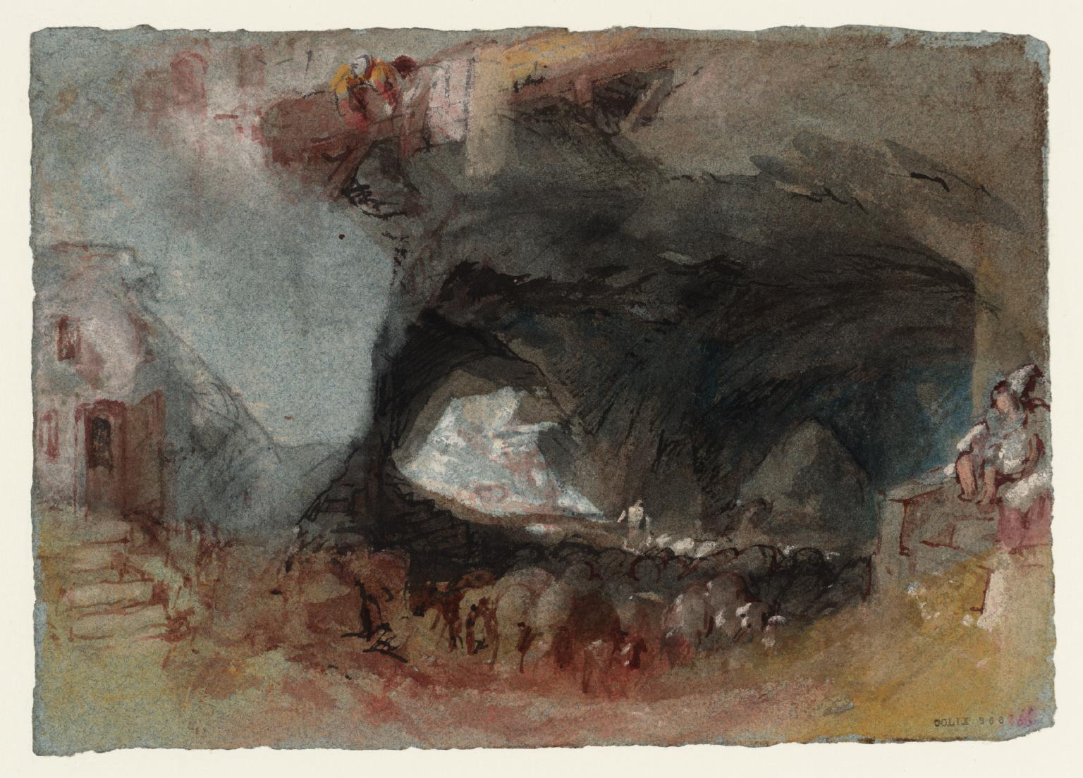 Cave Interior with Wine Barrels, near Saumur c.1826-8 Joseph Mallord William Turner 1775-1851 Accepted by the nation as part of the Turner Bequest 1856 http://www.tate.org.uk/art/work/D24831