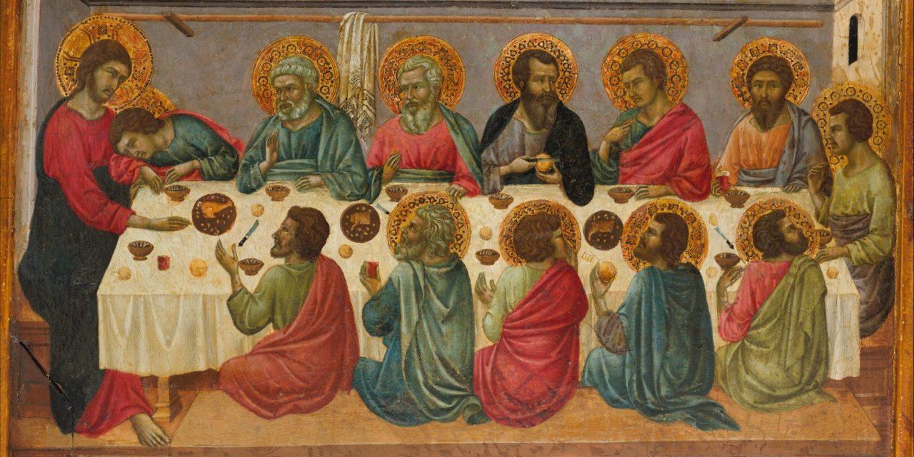 """La Última Cena"" (1325–1330), de Ugolino di Nerio (Ugolino da Siena)"