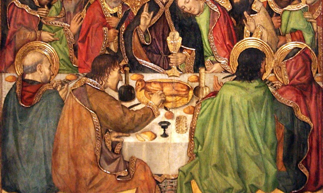 """La última cena"" (1450), de Jaume Huguet"